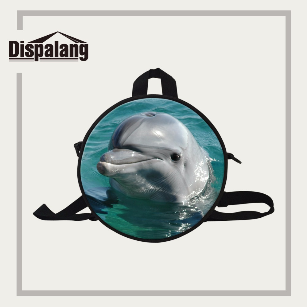 77a849c9cb65 Dispalang mini round kindergarten baby backpacks 9 inch cute dolphin  schoolbags for children fashion bookbag female back pack