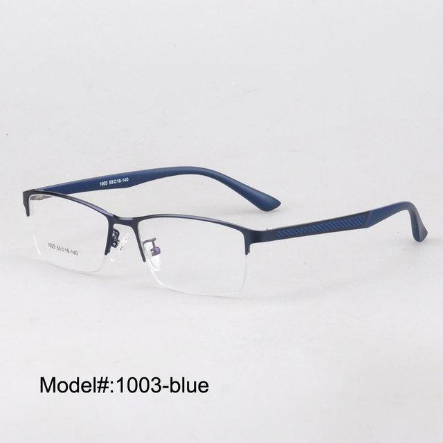 MX1003 brand new estilo dos homens de alta qualidade metade aro de metal óptica óculos óculos de quadros com templos ultem muito avistamento