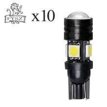 10Pcs T10 W5W auto led bulb T10 5050 4smd 3w small light width light T10 4+1 white light DC 12v pa led 10pcs x g14 t10 led light bulb 6 3v white color 4smd 3528 pinball machine led light