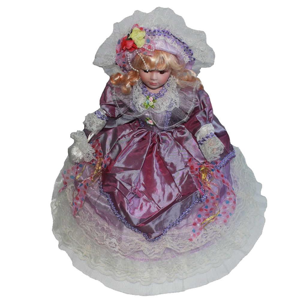 Handcrafted Delicate 6inch Victorian Porcelain Dolls Elegant Women Figures  Collectibles Beautiful Figurines Desktop Ornament