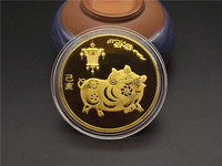 1 Dozen 12PCS / 2019 The year of Pig Souvenir coin Chinese zodiac Medal new year gift