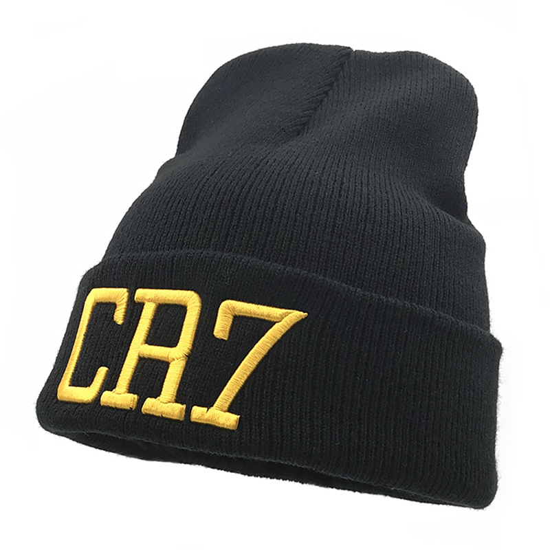 Adaptable New Hat Sport Winter Cr7 Letter Cap Men Hat Beanie Knitted Hiphop Winter Hats For Women Fashion Warm Caps Very Cold Hat