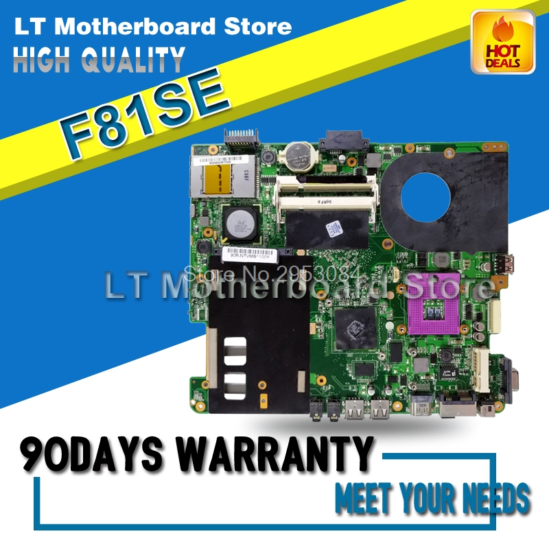 For ASUS X88S X83S F83S F81S F83SE F81SE Laptop Motherboard System Board Main Board Card Logic Board Tested Well original for asus vx6s rev2 0 laptop motherboard system board main board card logic board tested well free shipping