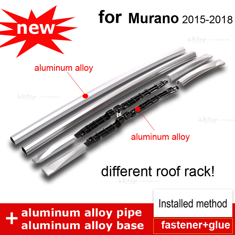 Upgraded OE roof rack roof rail bar for Nissan Murano,95% aluminum alloy instead of plastic,heavy weight, 4S quality