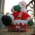 X043 Надувной Дед Мороз 9 м Высота CE/UL Воздуходувки Включены DHL БЕСПЛАТНАЯ Доставка Открытый Надувные Рождество Рождество Деко