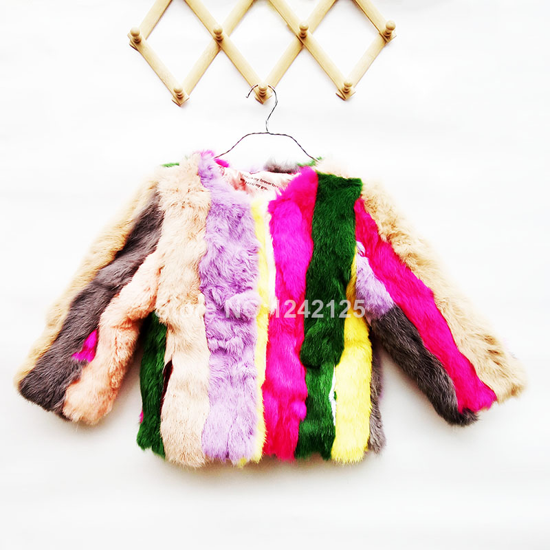 статуэткa hare New autumn winter children fur coat girls boy real rabbit clothing child Home grass hare out wear thickening overcoat clothes