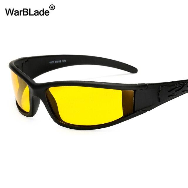 Men Night Vision Sunglasses Yellow Lens Anti-Glare Goggles Driving Polarized Sun glasses UV400 Protection For Driver Eyewear
