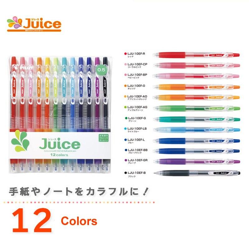 Japan Pilot juice gel pen 0.5 mm marker neutral handle pen Pastel plain Color writing 6/12 colors Drawing line Pen set japan pilot hi tecpoint v5rt gel pen test pen tip 4 color 5pcs