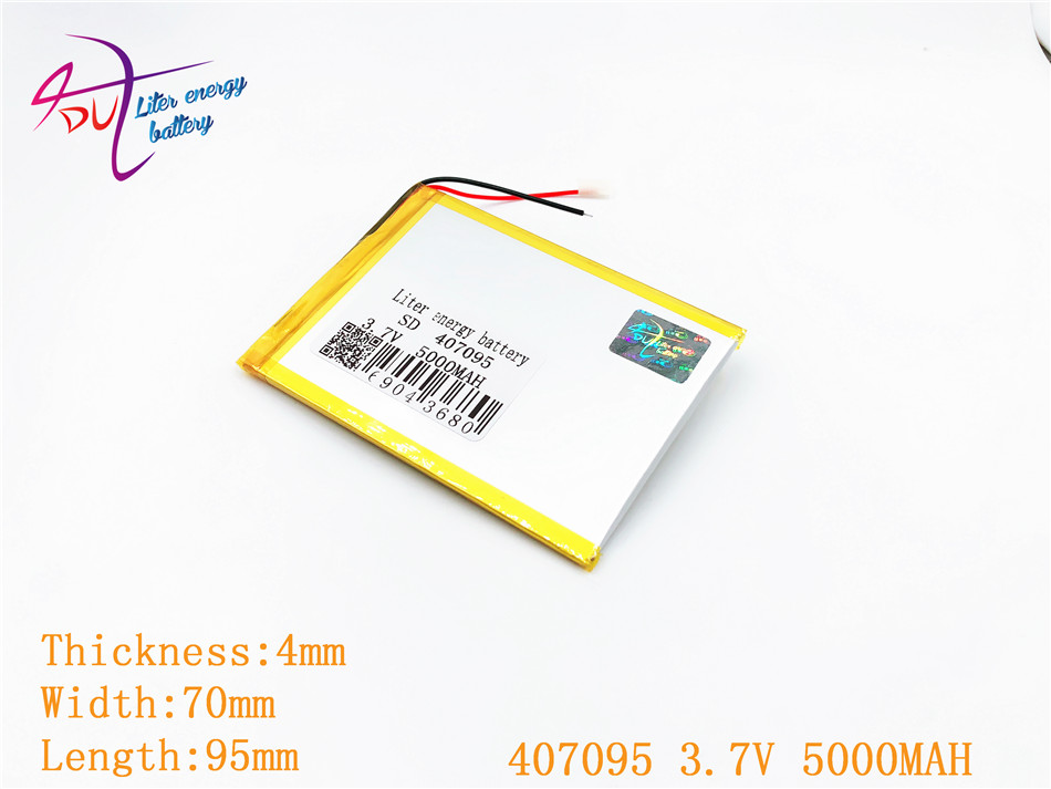 407095 3.7V 5000mah Lithium polymer battery For 7 Tablet Q88 A13,U25GT,Freeander PD10 3G,PD20 3G TV MTK6575,MTK6577 407292 3 7v 3 8v 4800mah li polymer battery for tablet pc irbis tz56 tz49 3g tz709 tz707 ipaq texet tm 7043xd 407090 u25gt