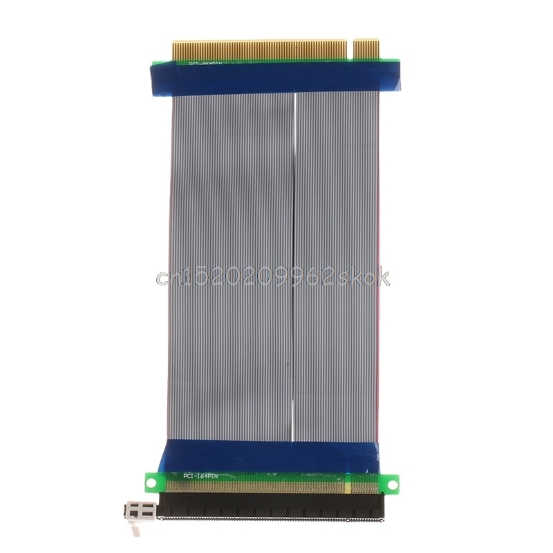 PCI-E 16X to 16X Riser Extender Card Adapter PCIe 16X PCI Express Flexible Cable riser pci e x16 pcie pci express 16x to 16x riser extender card with molex ide power