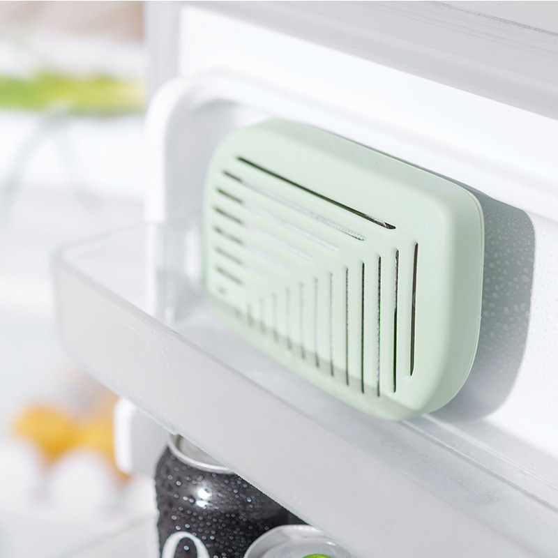 Cute Green Leaf Shape Fridge Refrigerator Air Fresh box Purifier Charcoal Deodorizer Absorber Freshener Eliminate Odors Smell in Active Carbon Bags Boxes from Home Garden