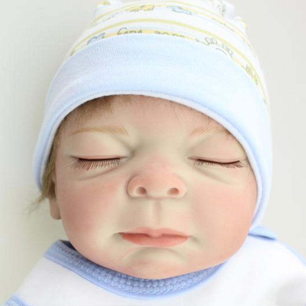 20inch Full Body Silicone Reborn Dolls 52cm All Silicone Boy Baby Doll Toys Newborn Baby Doll Toys BeBe Reborn Baby