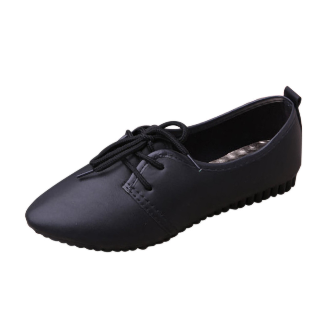 New Casual Outdoor Toe Flat High Quality Women Ladies Solid Lace Up Pointed 2019 Toe Flat Heel Casual Single ShoesNew Casual Outdoor Toe Flat High Quality Women Ladies Solid Lace Up Pointed 2019 Toe Flat Heel Casual Single Shoes