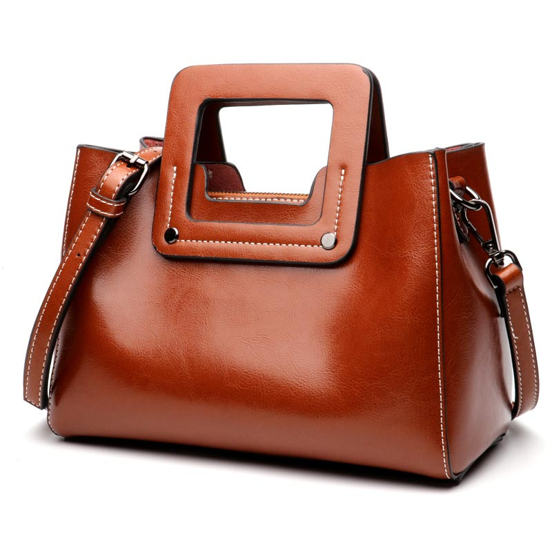 genuine Leather Handbags Big Women Bag High Quality Casual Female Square Bags  Tote  Brand Shoulder Bag Ladies Large Bolsos smiley sunshine brand serpentine leather women handbags hobo tote bag female snake tassel big shoulder bags ladies crossobdy bag