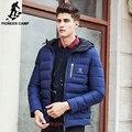 Pioneer Лагерь Новая мода зима пуховик мужчин бренд мужской теплый вниз пальто высокое качество мода повседневная синий вниз парки мужчины 611626