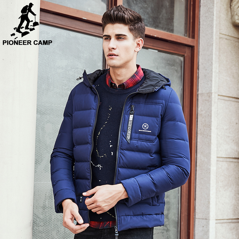 2733b3df38 Pioneer Camp New fashion winter down jacket men brand male warm down coat  top quality fashion casual blue down parkas men 611626-in Down Jackets from  Men's ...