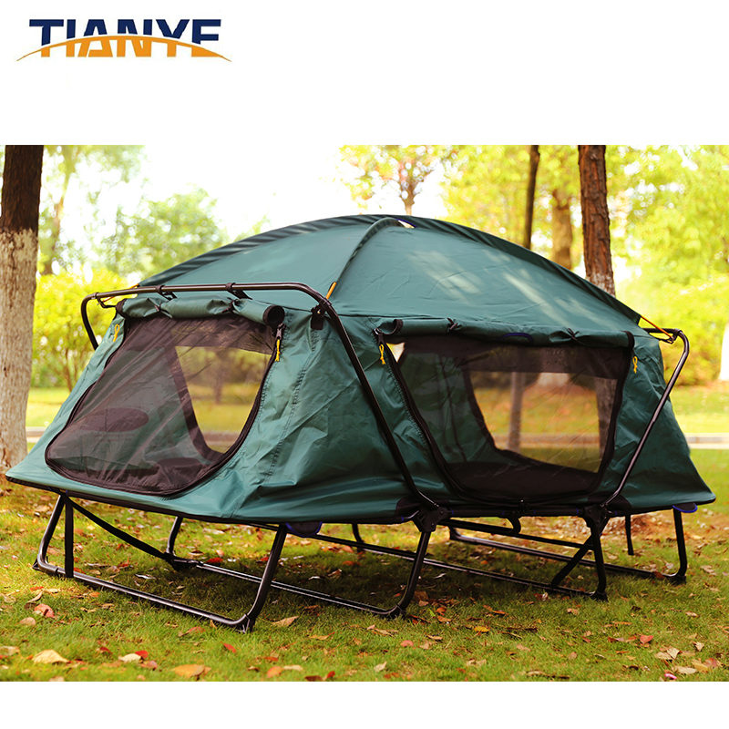 Tienda de campaña fuera del suelo al aire libre, escalada, picnic, pesca, playa, refugio de viaje, evitar construir sombrilla impermeable doble tienda