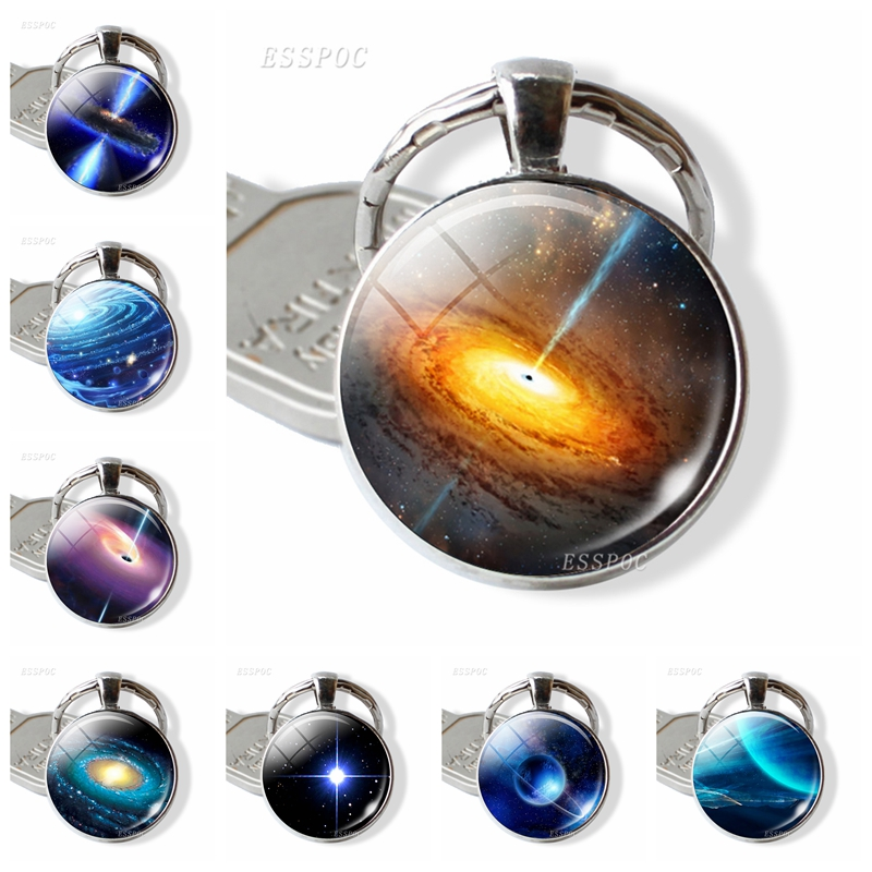 Universe Galaxy Nebula Key Chains Fashion Cute Keychain Cool Planet Round Pendant Keyring Friendship Gift Astronomy Gifts XG