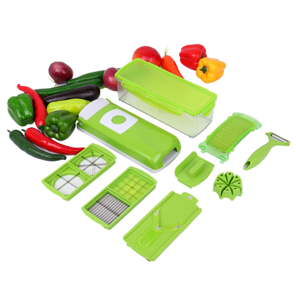 (Ship from UK) 12Pcs Professional Slicer Julienne Cutter Chopper Fruit Vegetable Veg Peeler ship from uk 10x20 seedling heat mat for cloning propagation starting