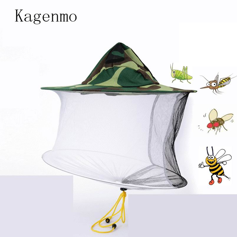 Contemplative Kagenmo Jungle Bucket Hat Beekeeping Flishing Hats Mining Honey Cap Full Protection Fly Butterfly Locust Bee 10pcs/lots Pure And Mild Flavor Apparel Accessories