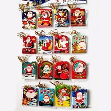 12 шт. мини поздравительные открытки Санта-Клаус открытка для сообщений открытка для рождественских праздников открытка для благословения Рождественская елка висячие украшения SD287