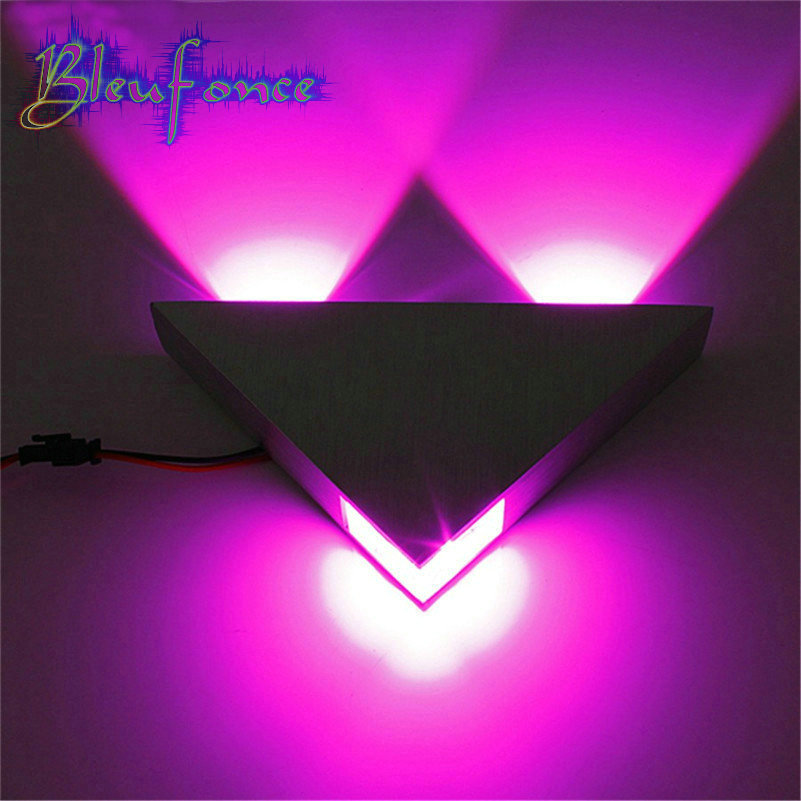 Modern purple light LED Wall Lamp 3W AC85-265V fashion home decoration indoor wall lights for home LED Wall Sconce