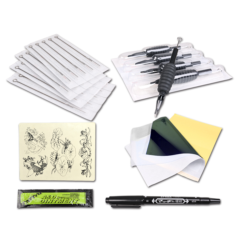 Tattoo Starter Kit 2 Mitrailleuses 6 Encres Couleur Fourniture Set - Tatouages et art corporel - Photo 6
