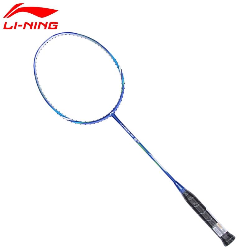 Li Ning U-Sonic 27 Badminton Rackets Li-Ning Single Racquets LiNing Carbon Fiber Professional Rackets AYPM224 li ning u sonic 17 badminton rackets single carbon fiber professional lining rackets aypm226 zyf214