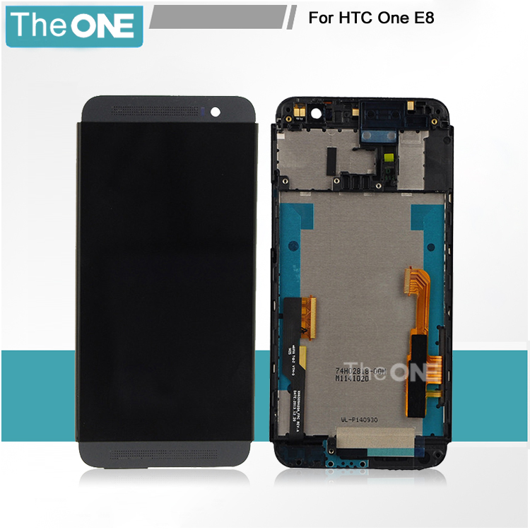 Free DHL New Full LCD Display + Touch Screen Digitizer Assembly With Frame For HTC One E8 Replacement Repair Part Black/Gold vel vel 03 06 04 02202