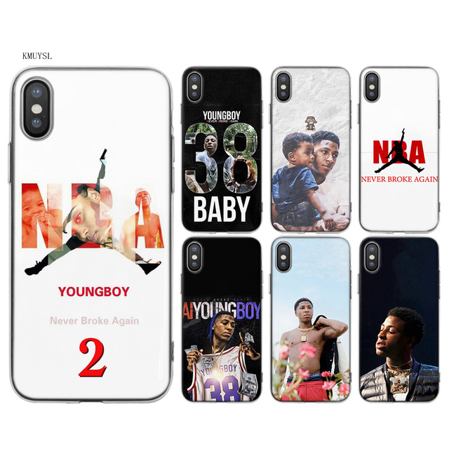 sneakers for cheap 8edc5 56625 US $1.97 34% OFF KMUYSL Youngboy Never Broke Again TPU Transparent Soft  Silicon Case Cover Coque for iPhone X 7 8 6 6s Plus 5 5S SE 5C-in Fitted  Cases ...
