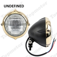 UNDEFINED Universal High Quality 5 1/2 Black Vintage Bullet Motorcycle Headlight Front Lamp High Low Beam For Harley Copper Ring