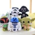 5 unids/set 20 cm estrella guerra de peluche Juguetes de peluche BB-8 Darth Vader y Storm Trooper R2-D2 los niños Juguetes de peluches Juguetes de regalo para el niño