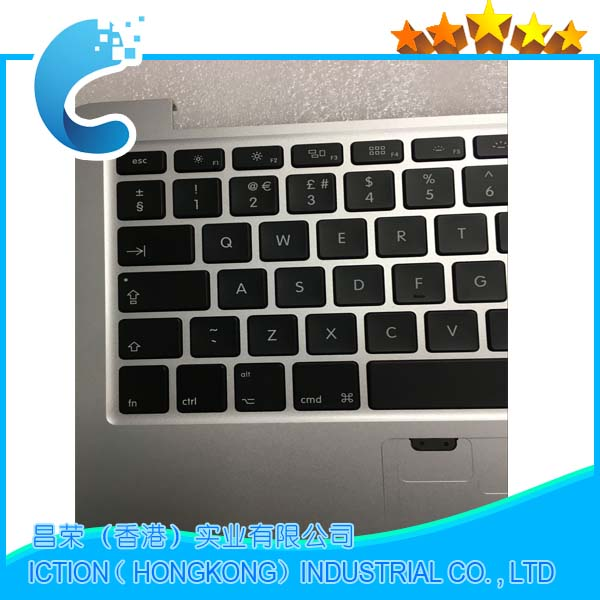 Genuine A1502 Top Case Topcase With UK Keyboard & Backlight for Macbook Pro Retina 13 A1502 Topcase ME864 ME866 2013 2014 for macbook pro retina 13 a1502 topcase with keyboard upper top case palmrest us layout late 2013 mid 2014 661 8154
