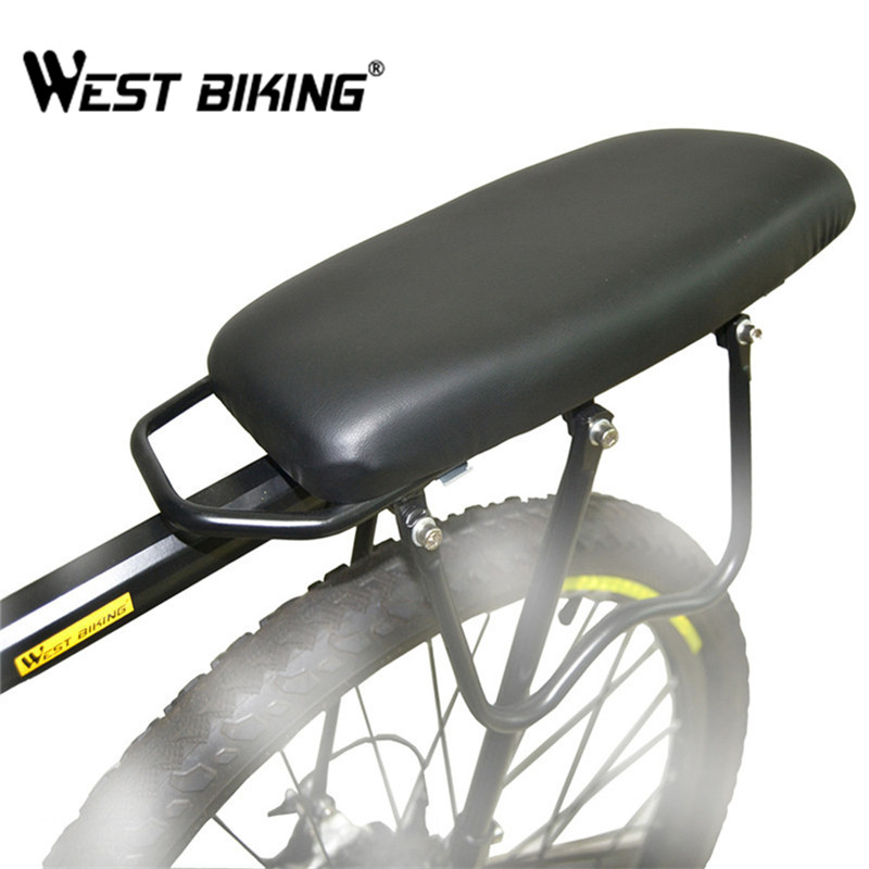 WEST BIKING Bike Outdoor MTB Road Alloy Shelf Cycling Load 50Kg Disc Brake/V-brake Bicycle Rear Rack + Back Carrier Pad Set west biking bike chain wheel 39 53t bicycle crank 170 175mm fit speed 9 mtb road bike cycling bicycle crank