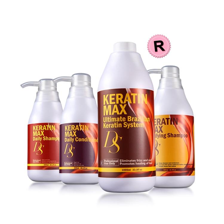 1000ml tratamento de queratina brasileira alto grau ds max 12 formalina 500ml purificar shampoo 300ml