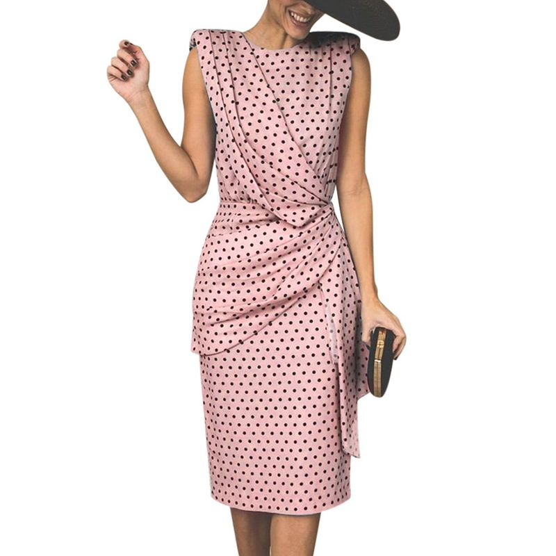 e97e5597bc7ef US $15.23 Elegant Office Lady Dress 2019 Sexy Dot Polka Printed ...