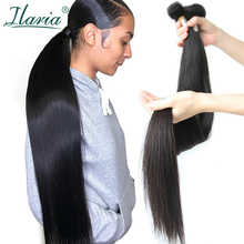 Ilaria 30 Inch 32 34 36 38 40 Inch Bundles Peruvian Hair Straight Human Hair Weave Bundles Long Length Remy Hair Extensions