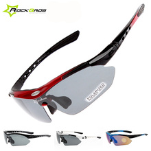 RockBros 5 Lens TR90 Polarized Cycling Eyewear Myopia Frame Outdoor Sports UV400 Sun Glasses Bicycle Goggles MTB Bike Sunglasses
