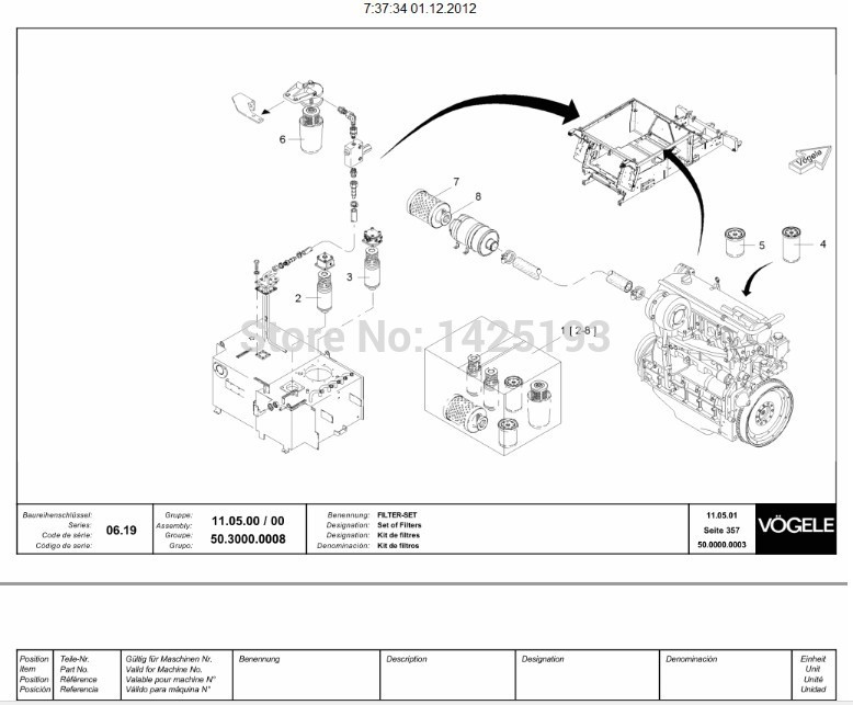 Manitou Mt 732 Parts Manual