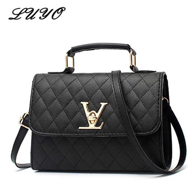 227b8b35aa69 2018 Fashion Leather Small V Style Luxury Handbags Women Bags Designer  Crossbody For Famous Brands Messenger