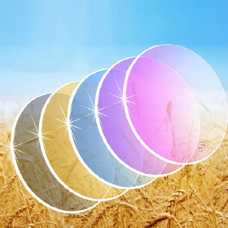 1.61 1.67 lentilles de lunettes à Gradient asphérique MR-8 MR-7 verres de myopie de Prescription de voyage colorés Super résistants pour lunettes de soleil