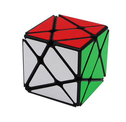 2017 YongJun Axis Magic Cube Change Irregularly Jinggang Speed Mirror Cube with Frosted Sticker YJ 3x3x3 Black Skew Cube