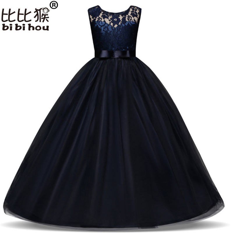 4-15 Years Kids Dress for Girls Wedding Tulle Lace Long Girl Dress Elegant Princess Party Pageant Formal Gown for Teen Children цена
