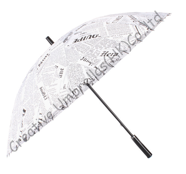 24k umbrellas 39 ribs paper print newspaper umbrellas straight umbrellas 14mm metal shaft and fluted metal ribs big sizes in Umbrellas from Home amp Garden
