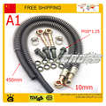 125cc 140cc 150cc 160cc dirt pit monkey bike atv quad accessories Modified motorcycle radiator oil cooler hose pipe M10 screw