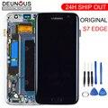 Оригинальный 5,5 ''SUPER AMOLED ЖК-дисплей с рамкой для SAMSUNG Galaxy s7 edge G935 G935F Сенсорный экран планшета Дисплей + Услуги пакет