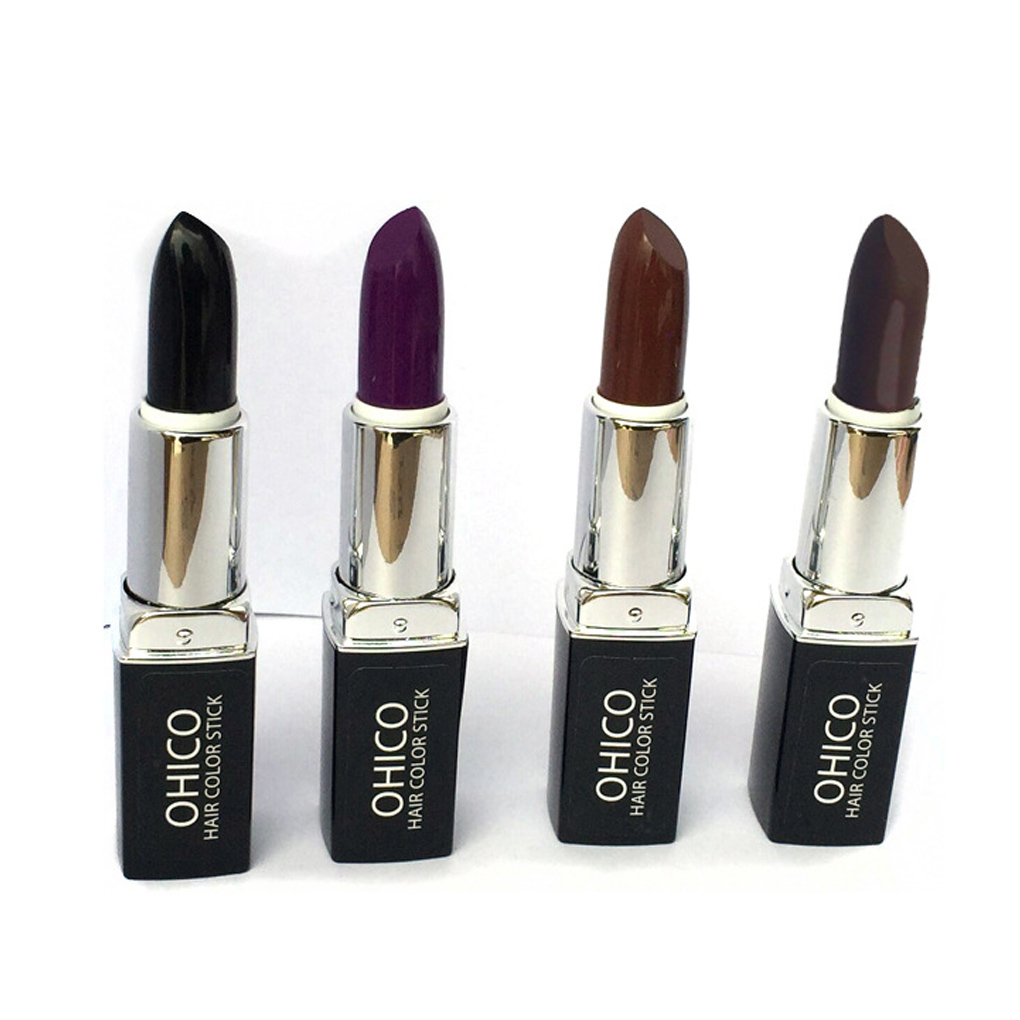5 Colors New Plant Extracts Disposable Temporary Hair Dye Coloring Pen Pencil Stick Lipstick Covering White Hair