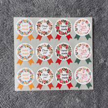 Free Shipping 120pcs Hand Made Thank You Garland Seal Sticker Baking Package