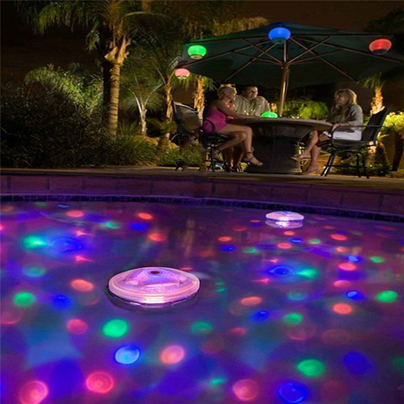 Underwater LED Disco Light Pool light Floating Glow Show Swimming Pool Hot Tub Spa Lamp lumiere disco piscine