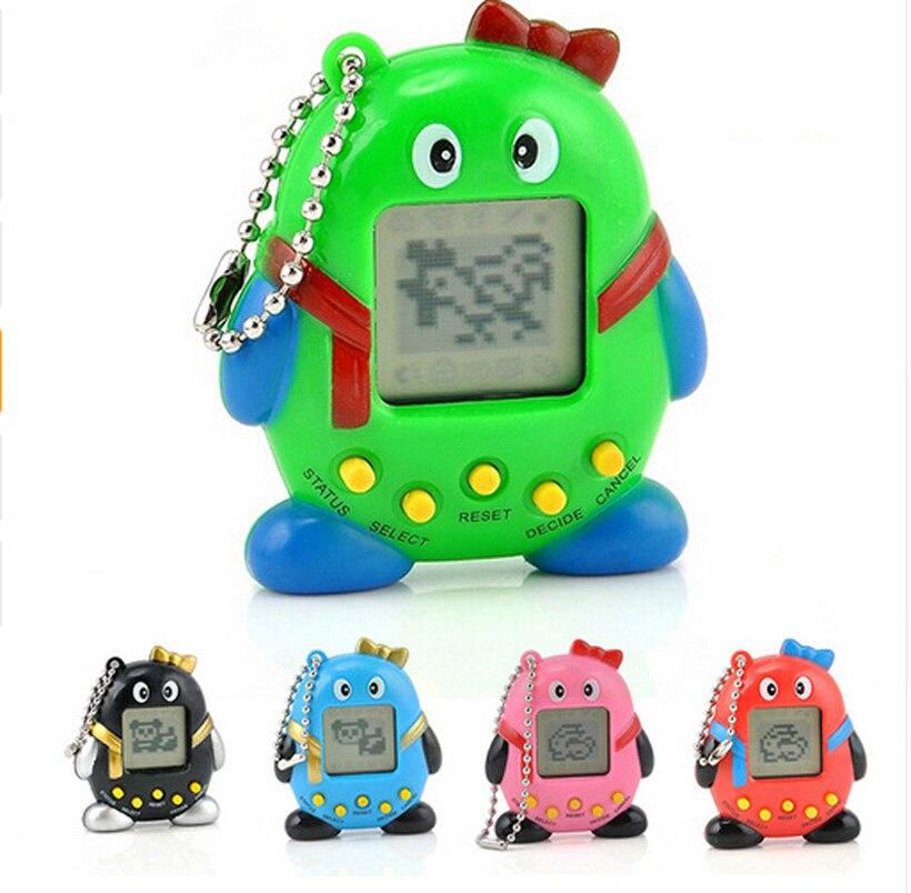 168Pets 90S Nostalgic Virtual Pet Musical Cyber Pet Digital Pet Tamagotchi Penguins E-pet Gift Toy Mini Handheld Game Machine